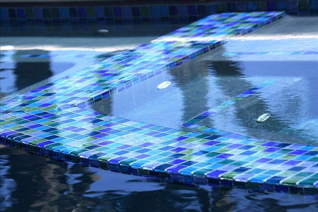 Lightstreams Blue Green Glass Tile Blend for Pool Tile, Spa Tile, Waterline Tile